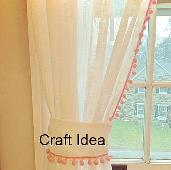 YYCRAFT Cinta de pomp/ón arco/íris para coser 4,5 metros