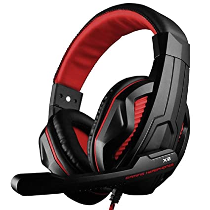 Lovearn Stereo Gaming Headset für PS4, PC, Xbox One Controller, Noise Cancelling Over Ear-Kopfhörer Mic, Bass-Surround, Soft-