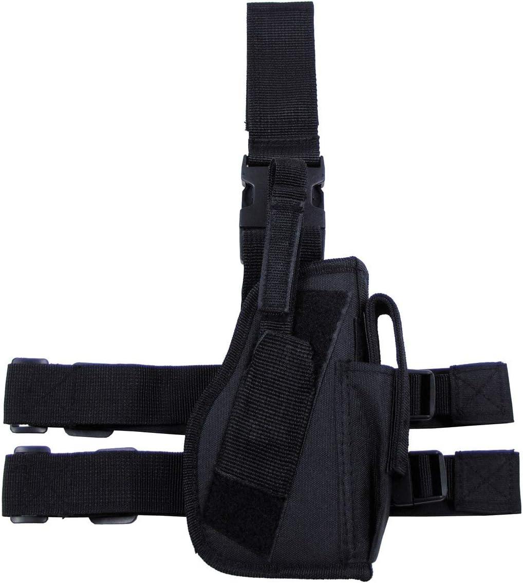 MFH Funda de Pistola 30725 Cierre de Pierna y cinturón, Derecha