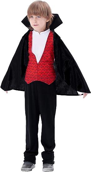 IKALI Disfraz de Vampiro Niño, El Conde Drácula Gótico Rey ...