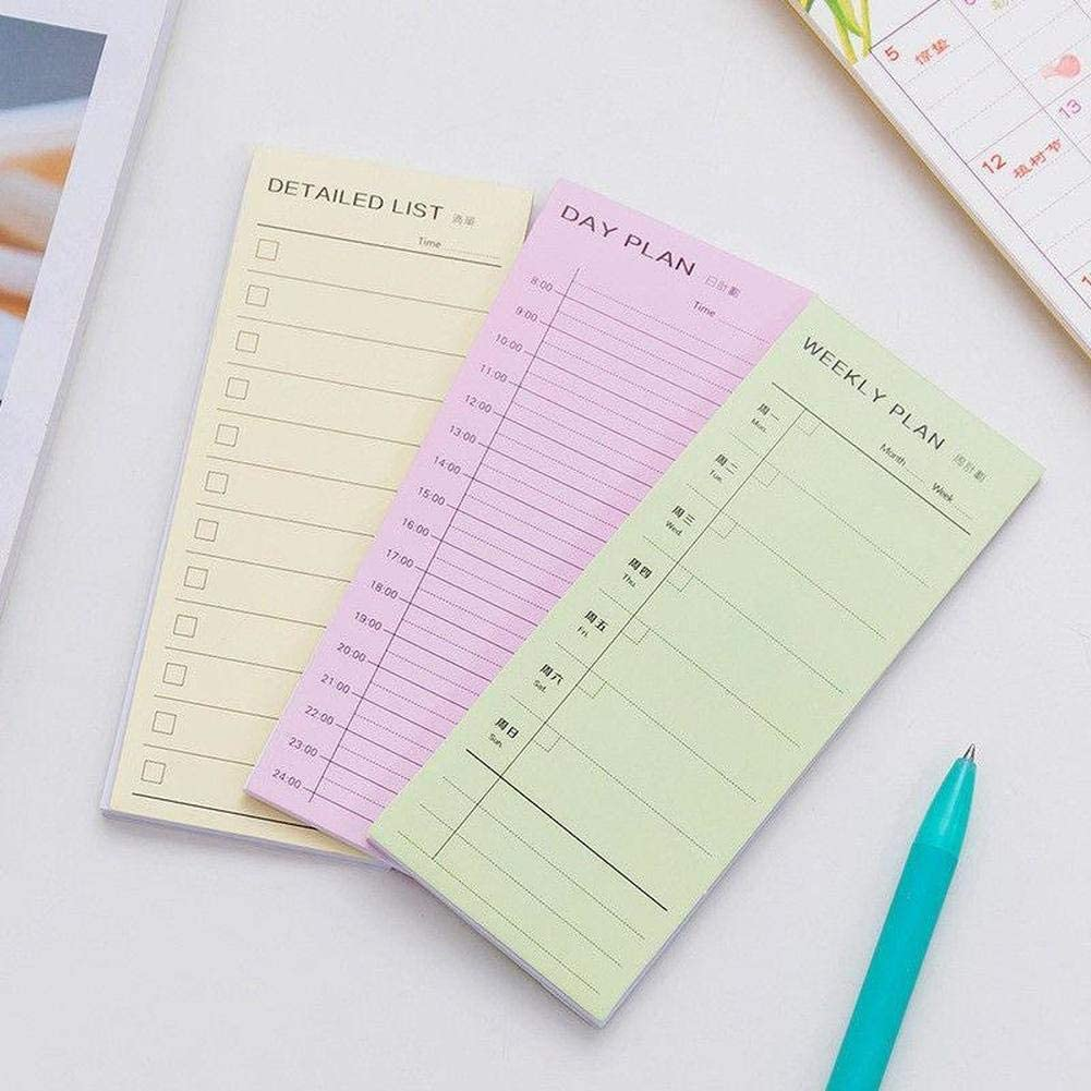 2 PCs Notebooks Day Week Month Planner Notebook//to Do List//Checklist//Sticky Notes Agenda Office School Supplies Weekly