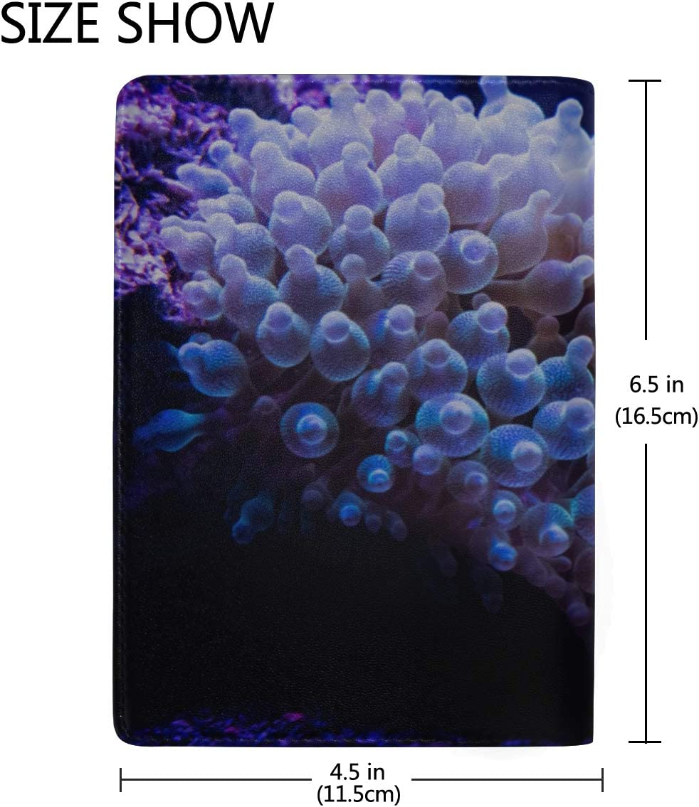 Waterproof Passport Case Beautiful Grape Corals In Aquarium Stylish Pu Leather Travel Accessories Passport Covers For Women For Women Men