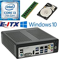 E-ITX ITX350 Asrock H270M-ITX-AC Intel Core i3-7100 (Kaby Lake) Mini-ITX System , 4GB DDR4, 1TB HDD, WiFi, Bluetooth, Window 10 Pro Installed & Configured by E-ITX