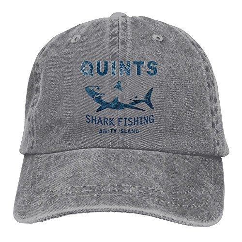 (Quint's Shark Fishing Denim Hat Adjustable Plain Baseball Cap)