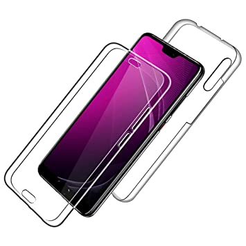 SDTEK Funda para Huawei P20 Pro 360 Doble Delantera [Transparente Carcasa] Full Body Case Bumper Cover Suave Silicona Huawei P20 Pro