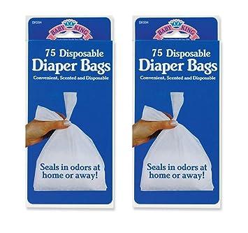 Amazon.com: Bolsas desechables para pañales de bebé, 2 ...