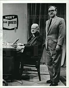 Historic Images -1975 Press Photo Lawrence E. Spivak and Herbert Hoover in Meet The Press