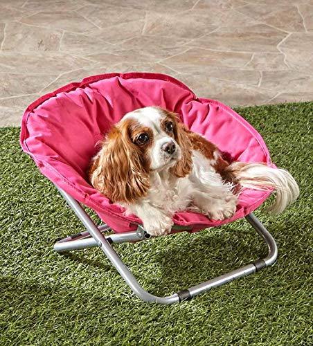 Marvelous Amazon Com Trm Pink Folding Pet Dog Cat Bed Chair Portable Customarchery Wood Chair Design Ideas Customarcherynet