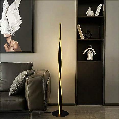 Design LED Steh Leuchten Wellen Design Wohn Zimmer Beleuchtung Fernbedienung
