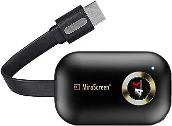 4K HDMI WiFi Display Dongle Adaptador, MiraScreen 2.4G TV Dongle Streaming Stick Miracast Dongle para Android/iOS/Windows, Soporte de Google Home App y Chrome Mirroring: Amazon.es: Electrónica