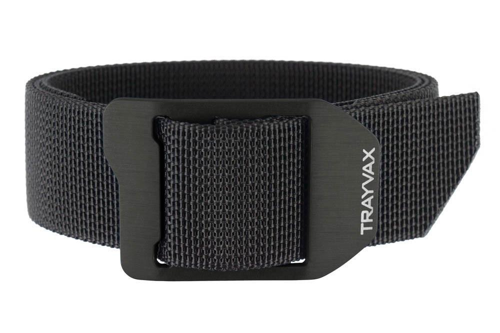 Trayvax Mens Cinch Web Belt, Black, 32-34''