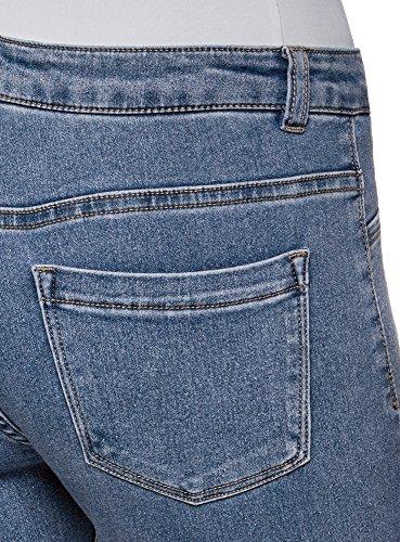 oodji Basique Bleu Ultra Slim 7000w Femme Jean 6BR6zrx
