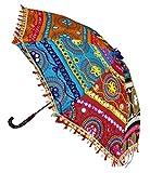 Indian Embroidery Work Design Sun Base Umbrella 21 x 26 Inch