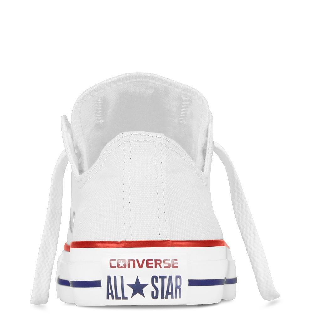 Converse Chuck Taylor All Star Canvas Low Top Sneaker, Optical White, 13.5 M US Little Kid by Converse (Image #10)