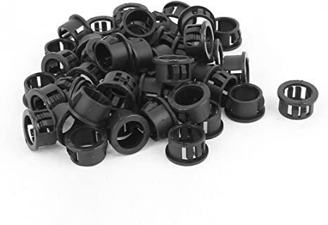 uxcell 50pcs 8mm Mounted Dia Snap in Cable Hose Bushing Grommet Protector