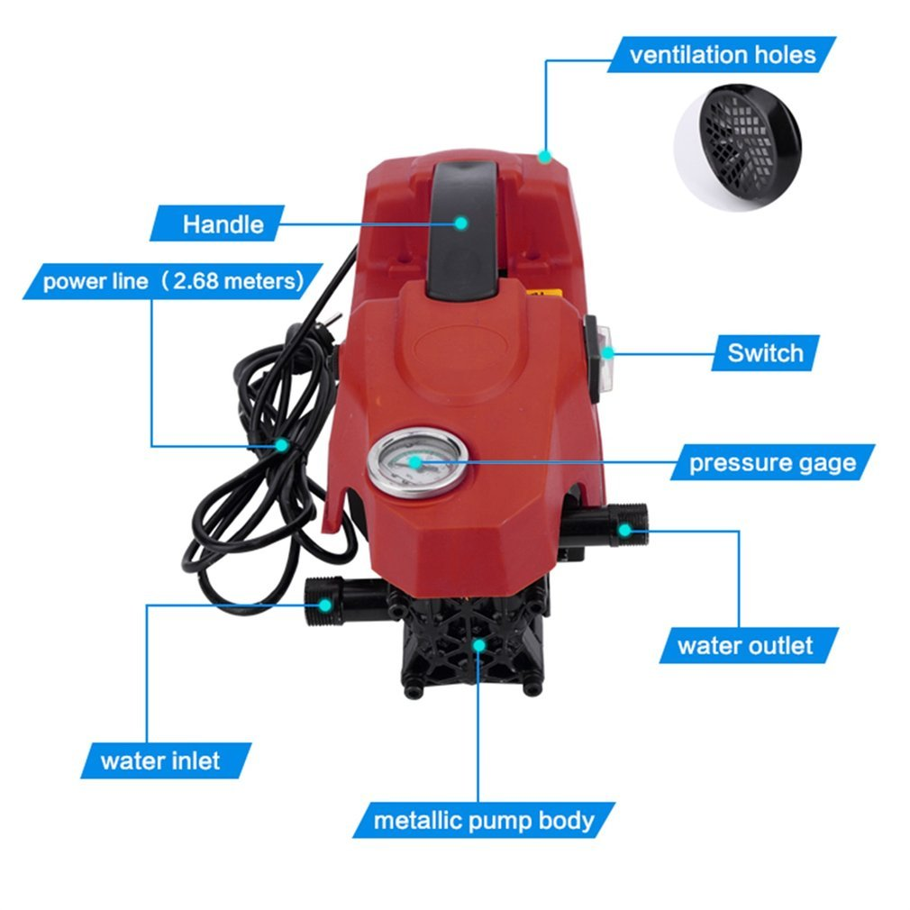 Kath Power Pressure Washer,Portable Electric Power Washer 1500 PSI (Red) by Kath (Image #4)