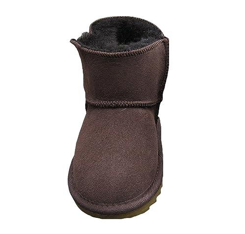 1566df3dd ACMEDE - Bottes de Neige Chaudes Et Souples pour Enfants Bébé Fille Garçon  en Hiver Chaussures Fourrure Snow Boots