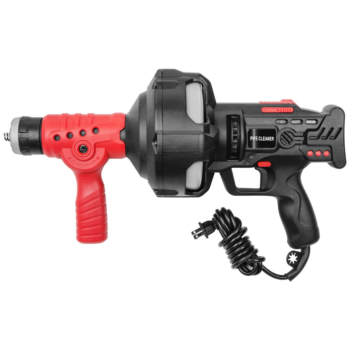 STKUSA 25' Handheld Portable Drain Auger Corded Operated Snake Sink Clog Pipe Cleaner Plumbing Power Tool