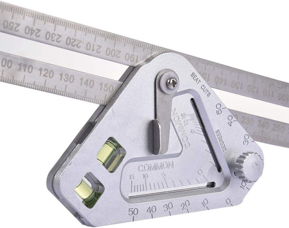 rosemaryrose Holzbearbeitung Dreieck Lineal Edelstahl Messwerkzeug Multifunktions Lineale