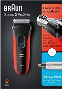 Braun PACK Series 3 ProSkin 3030S + EAR & NOSE TRIMMER EN10 ...