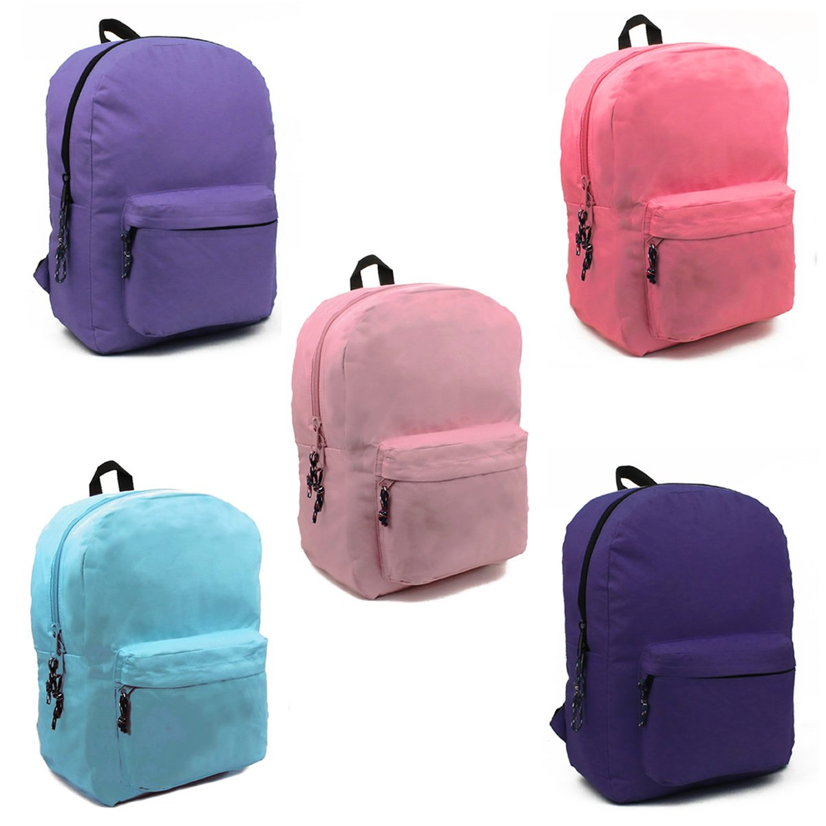 Wholesale 17'' Backpacks In 6 Assorted Colors - Case of 24