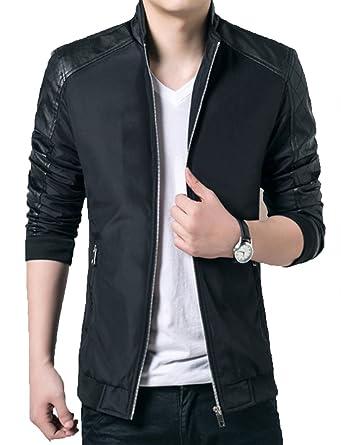 2efee4226 Olrek Men's Lightweight Casual Wear Outdoor Windbreaker Jackets(Black,XS  Size)