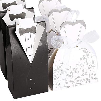 100 piezas/50 pares Bomboniere Candy de fiesta con surtido para tartas de boda cajas