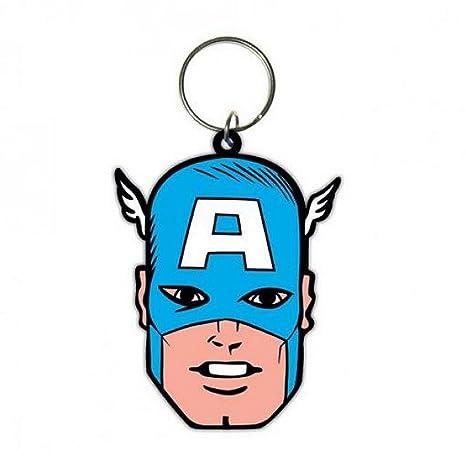 GUIZMAX Llavero Capitán América Marvel 6 cm Llavero: Amazon ...