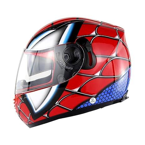 NF - Casco de Motocicleta para Hombre y Mujer, Doble Lente ...