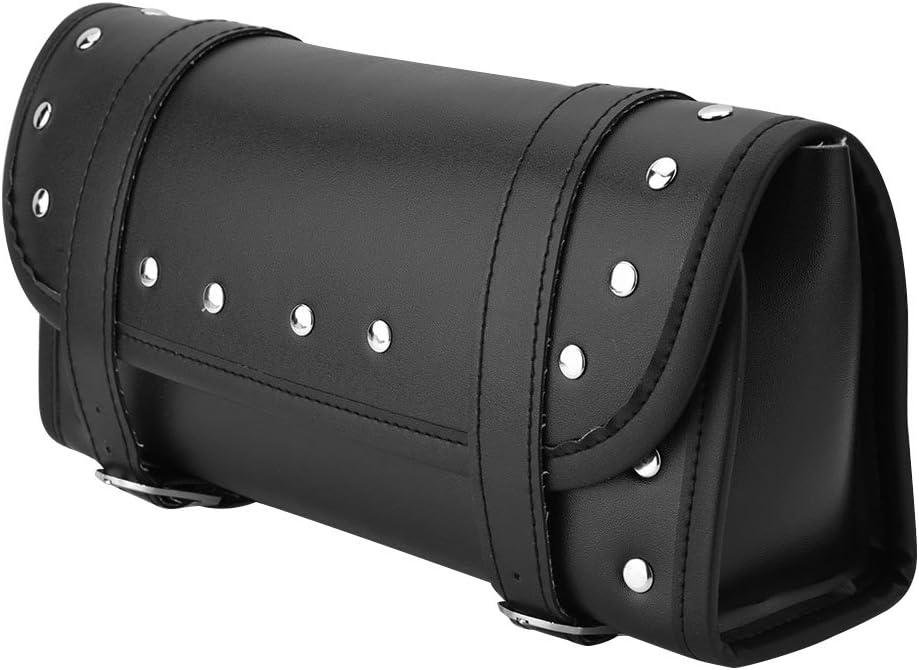 Borsa a tracolla per moto borsa a tracolla per borsa manubrio anteriore in pelle nera