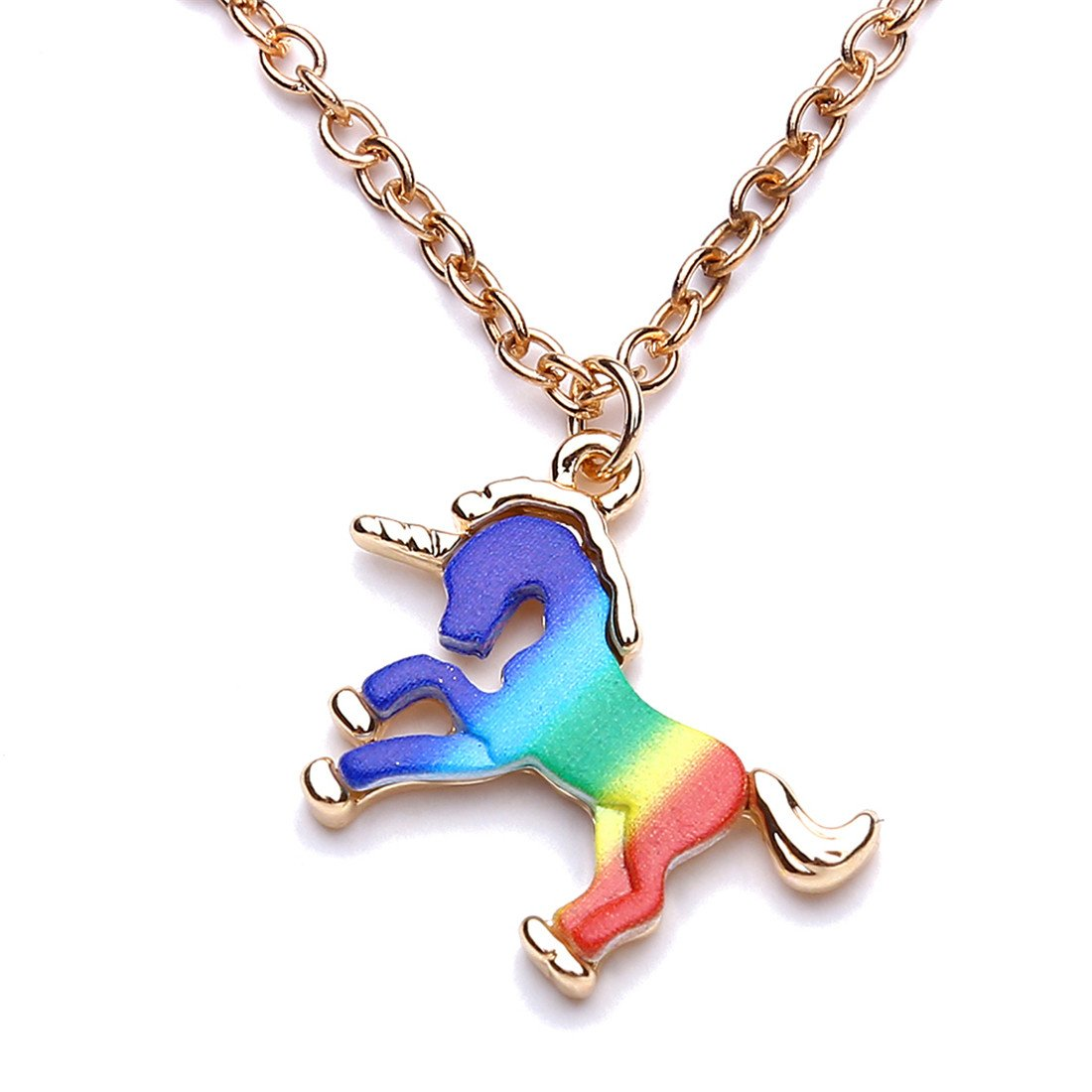 VWH Unicorn Horse Necklace Women Friend Gifts Charm Necklace