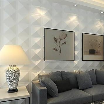 Yazi - Panneaux muraux décoratifs 3D, blanc, 300 x 300 x 15 mm ...