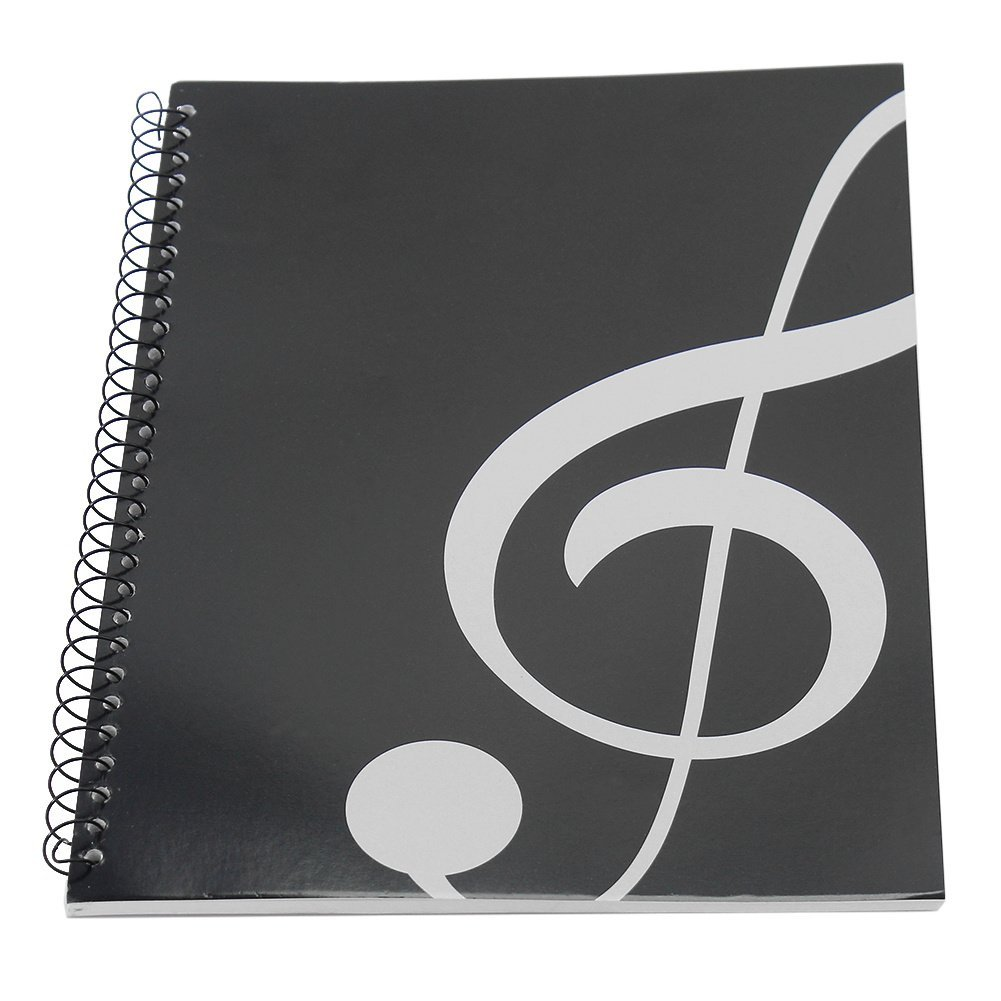 Music Manuscript Paper Book A4 40 Pages Black for Musician Composer Refaxi UU-8UTH-K0PW