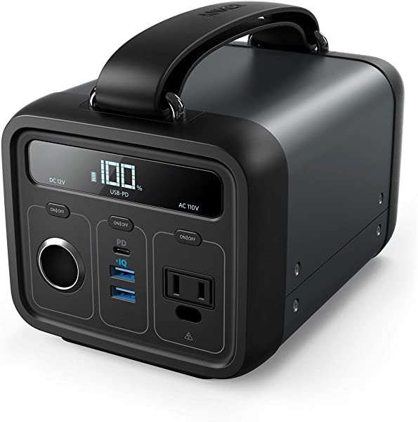 Anker PowerHouse 200 (213Wh / 57600mAh ポータブル電源) 【PSE認証済 / USB-A出力 & USB-C入出力 & AC出力 & DCシガーソケット出力対応 / Power Delivery対応 / 正弦波 / PowerIQ搭載】 キャンプ、緊急・災害時バックアップ用電源
