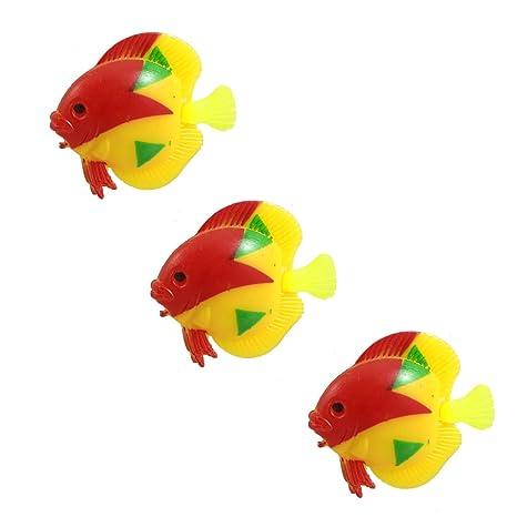 Sourcingmap – ® 3 Piezas Tri Plástico Color Peces Tropicales Decoración para Fish Tank Acuario
