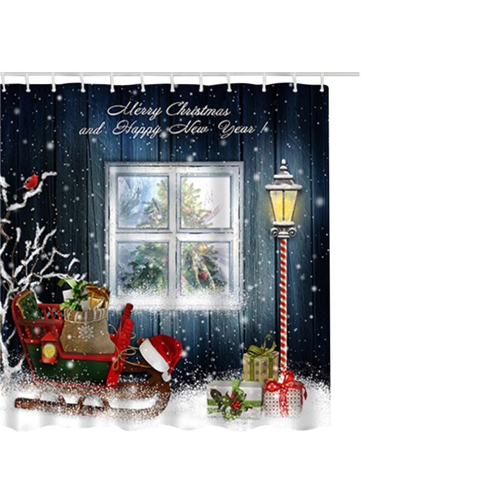 Duschvorhang Clode® Weihnachtswasserdichter Polyester Badezimmer ...