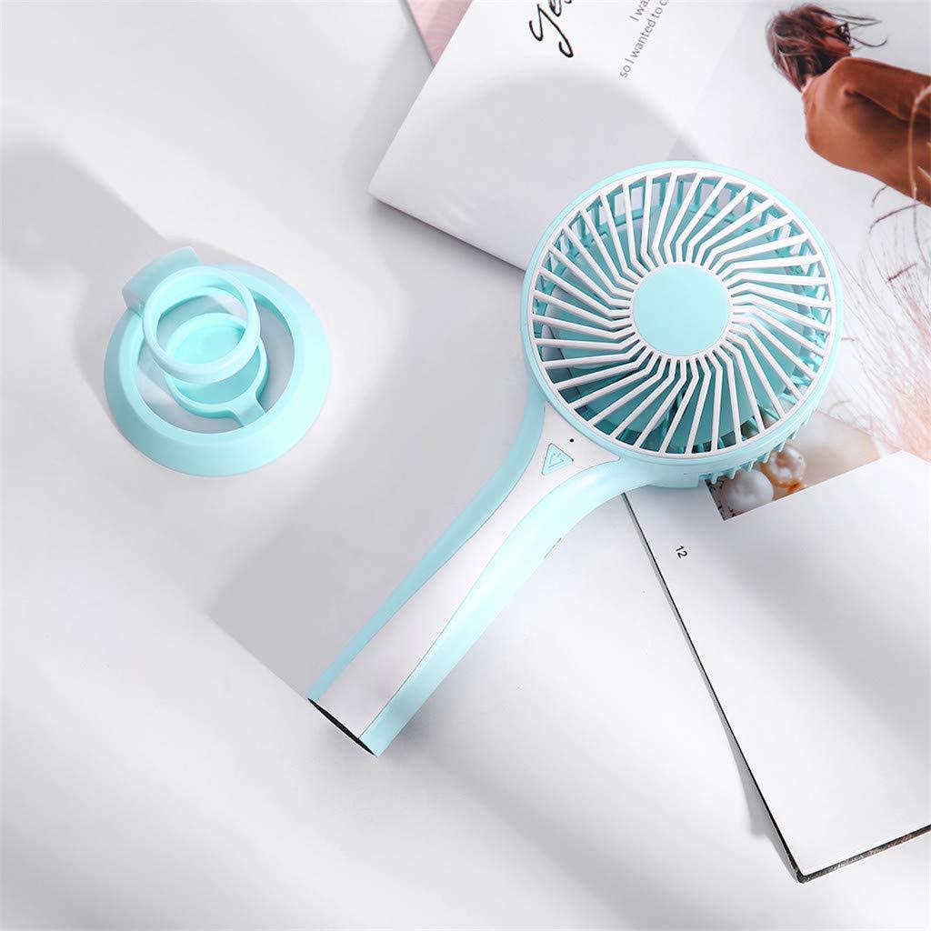 Mini Ventilador de Mano, JiaMeng Escritorio portátil Personal Cochecito Ventilador de Mesa Ventilador eléctrico de enfriamiento Ventilador Silencioso ...