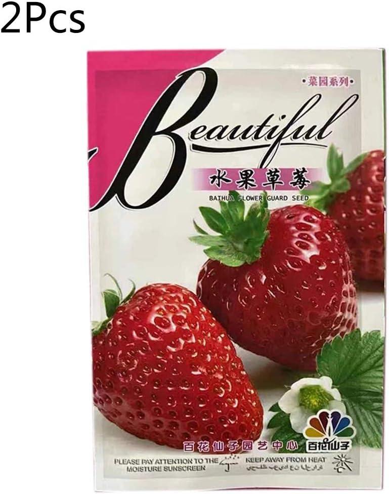 JERKKY Semi di Fragola , 400 Pezzi Semi di Fragola rari Frutta Dolce Piante da Giardino Seme Quattro Stagioni Bonsai Balcone Decor 1#