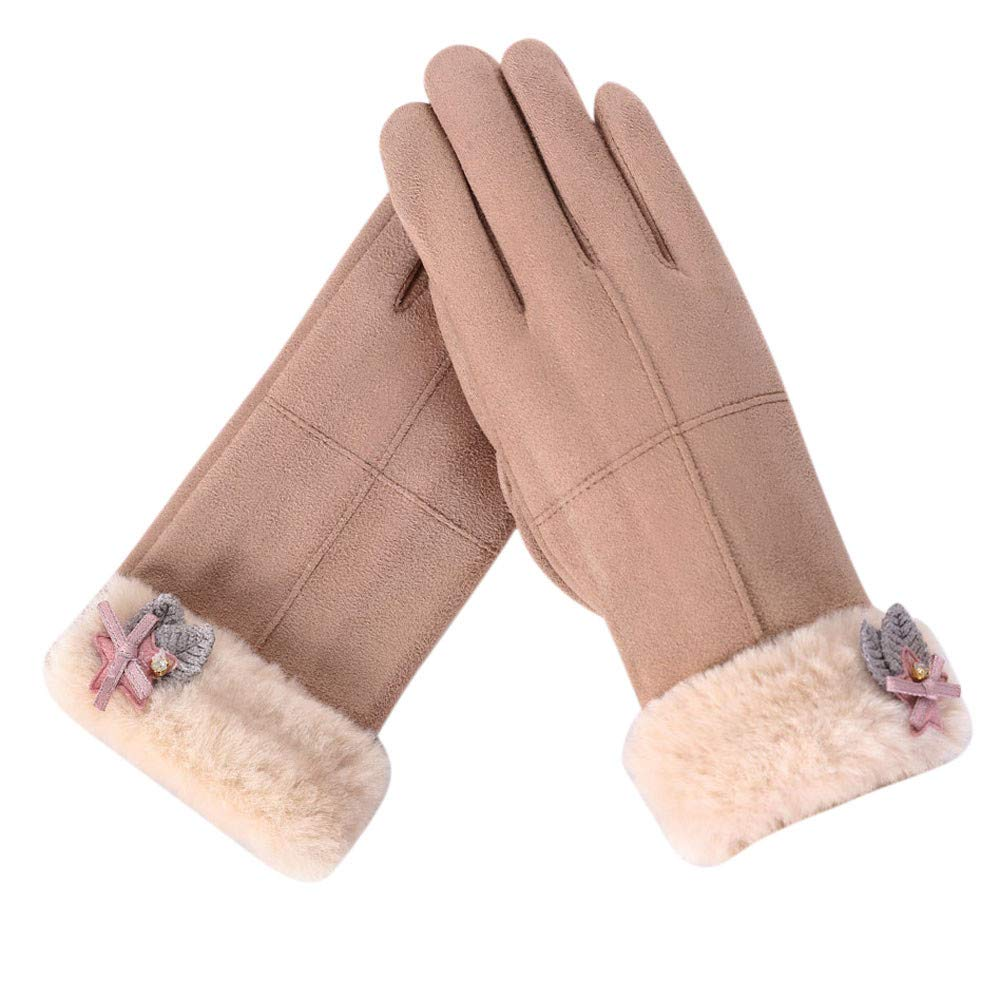 Women's Winter Gloves, Womens Fashion Winter Solid Full Finger Hand Outdoor Sport Warm Gloves