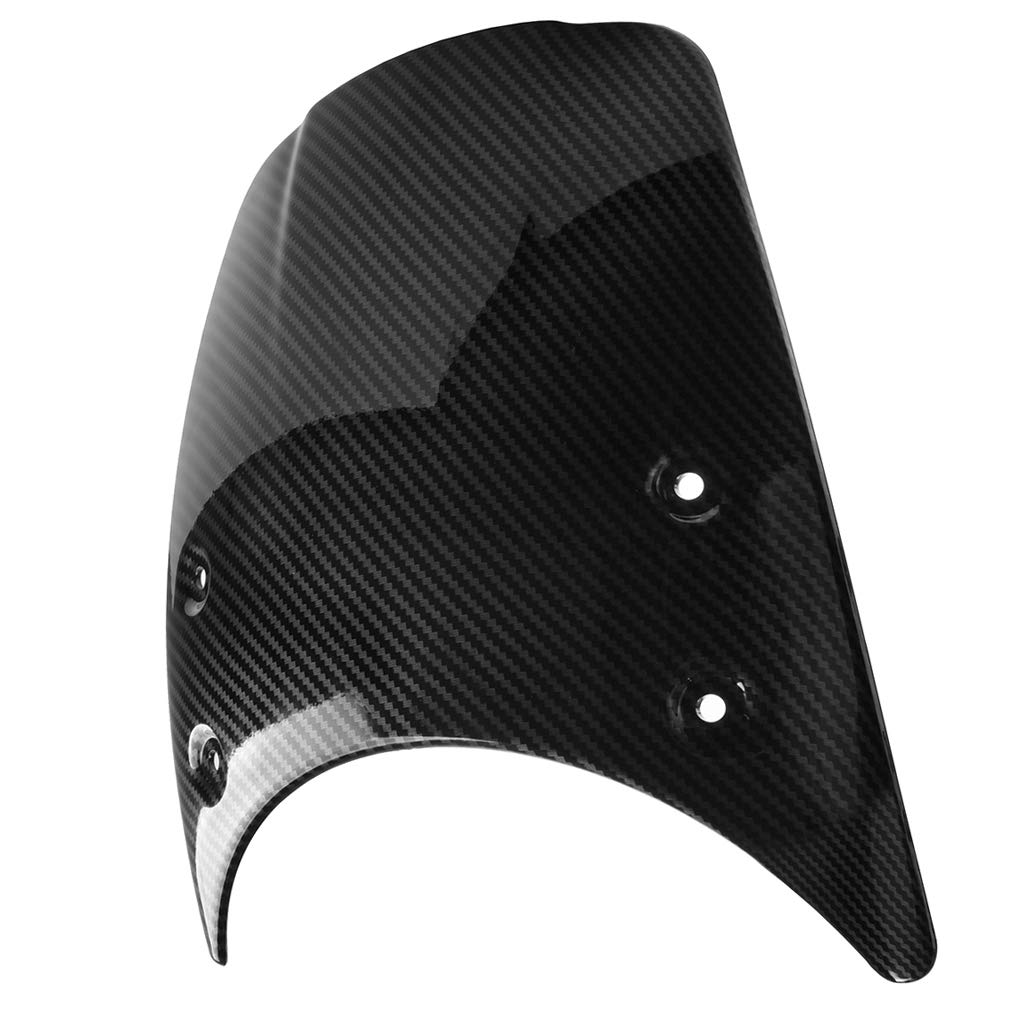 Aspecto de fibra de carbono Accesorios de moto Para RNINET 2015 2016 ABS Parabrisas Deflector de carenado de faros de parabrisas 2014-2017 R Nine T R NineT R9T