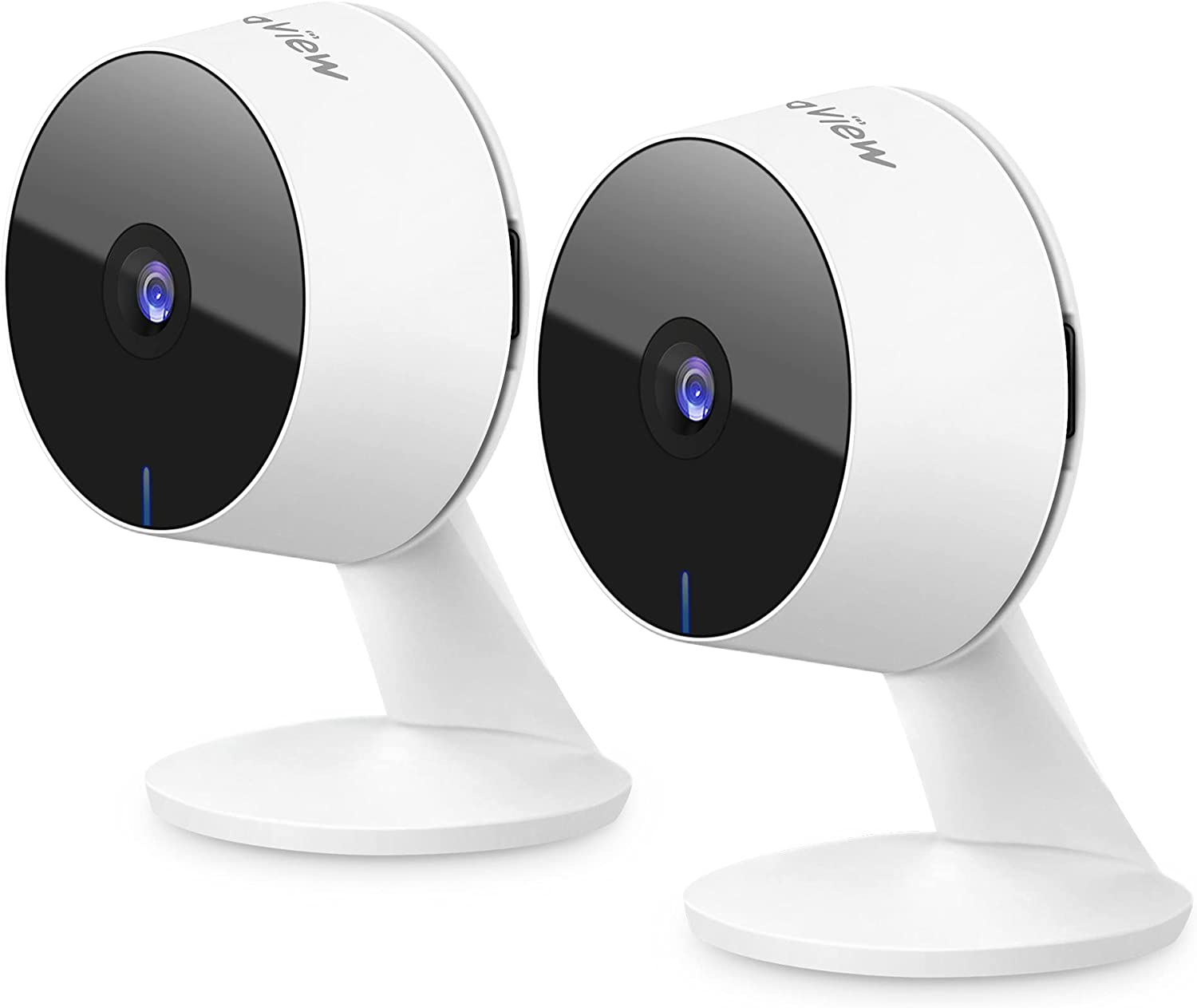 Laview Home Security Camera HD 1080P(2 Pack) Motion Detection,Include 2 SD Cards,Two-Way Audio,Night Vision,WiFi Indoor Surveillance for Baby/pet,Alexa and Google,Cloud Service (US Server)