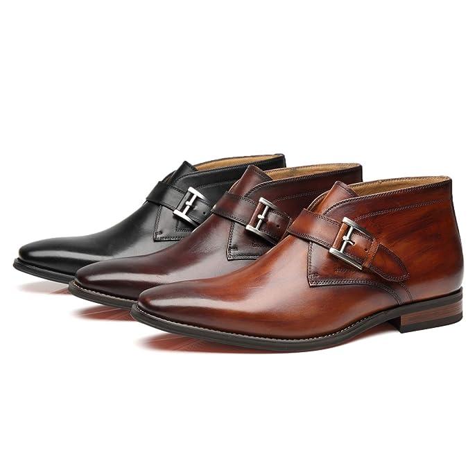 Amazon.com: La Milano Mens Winter Ankle Dress Boots Slip on ...