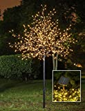 Lightshare™ UPDATE 8Ft 600L LED Frosted Ball City Tree,+Free Gift:70L LED Solar Decoration Light,Home Garden&City Decoration/Wedding/Birthday/Christmas/Festival/Party Indoor and Outdoor Use,Warm White