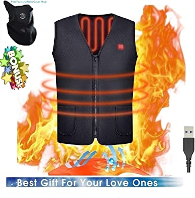 Washable USB Powered Heated Polar Fleece Clothing Winter Warm Gilet Decyam Adjustable Electric Heated Vest