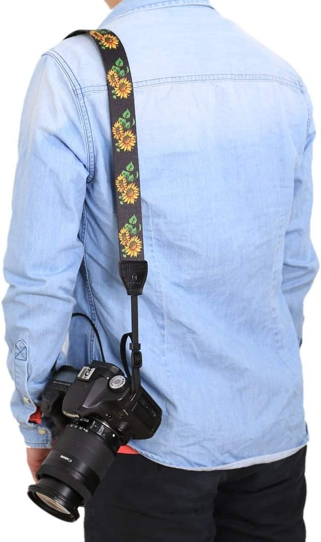 HEGUANGWEI Retro Ethnic Style Multi-Color Series Butterflies Shoulder Neck Strap Camera Strap for SLR//DSLR Cameras Color : Color3