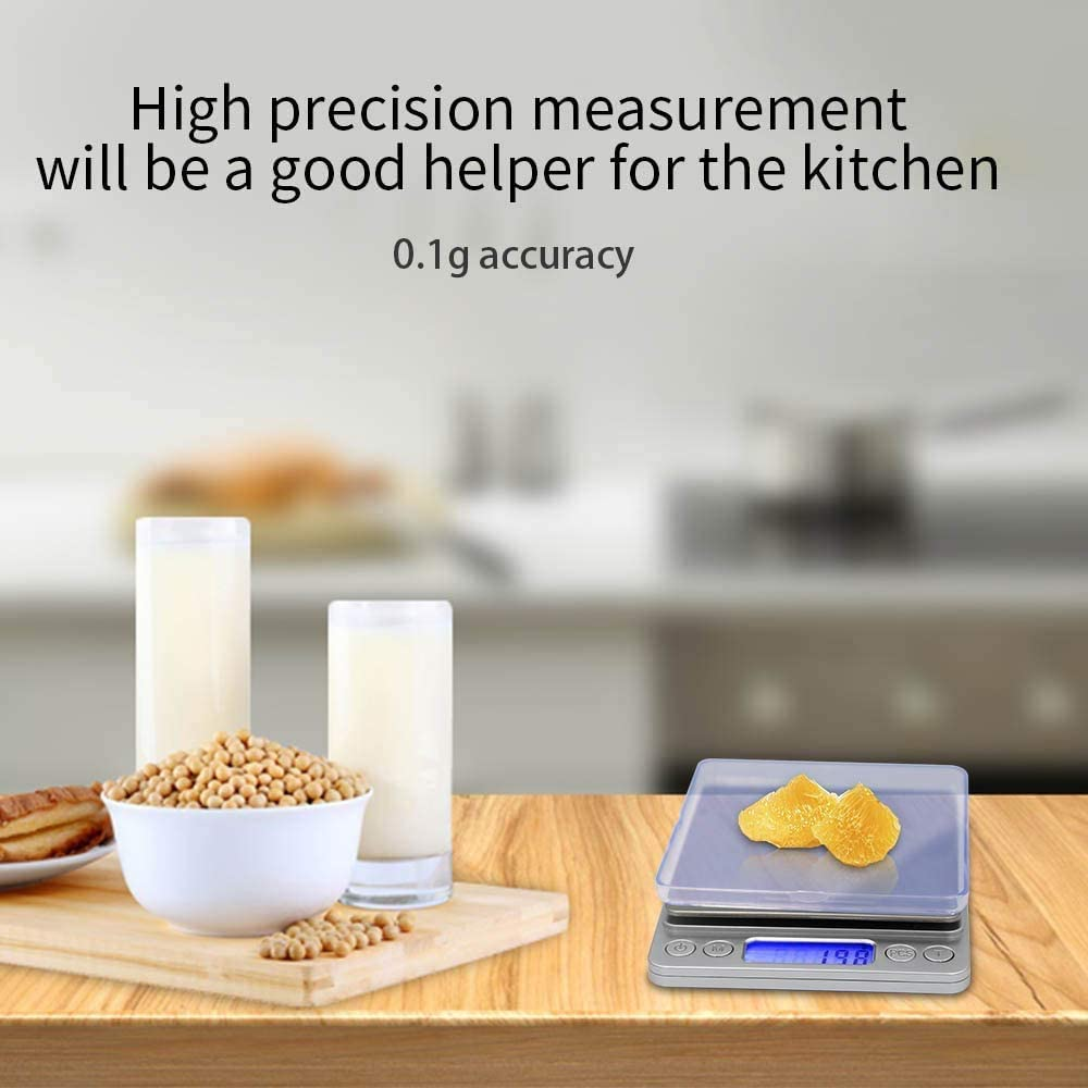 counting function 3000gx0.1g Sidiyang digital kitchen scale mini pocket stainless steel precision jewelry electronic scale weight gold grams tare weight function