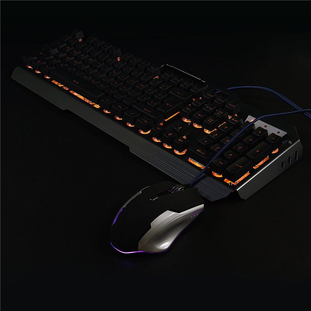 Amazon.com: Cosiki - Teclado con cable USB para videojuegos ...