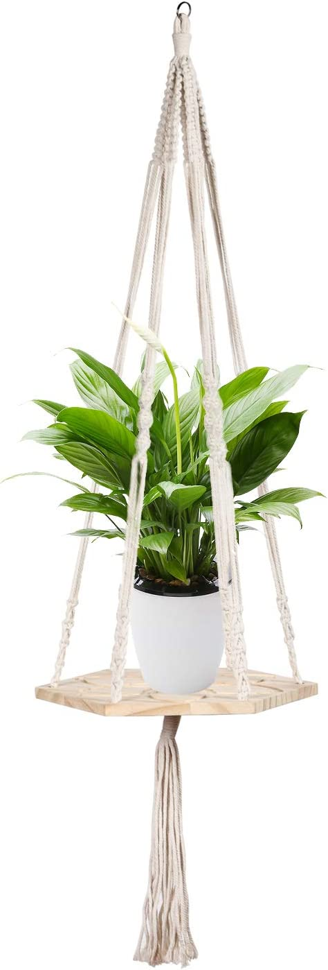 Macrame Plant Hangers Handmade Hanging Planter Basket Cotton Rope Hanger Flower Plant Pot Holder for Indoor Outdoor,Wall Decor