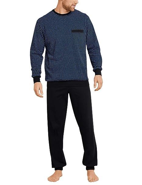 Schiesser Herren Schlafanzug lang Baumwolle Single Jersey Bündchen NEU