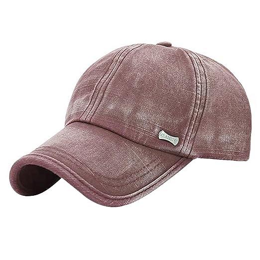 5a3708ecdac7c Glamorstar Trendy Baseball Caps Adjustable Distressed Washed Cotton Ball Hat  Brown